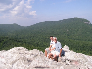 With Benjamin on top of Hanging Rock near Winston-Salem