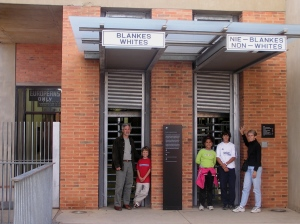 Family at Apartheid Museum, 2005