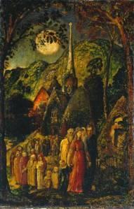 return from evening church