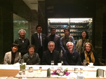 Pilgrim group with Archbishop Takami