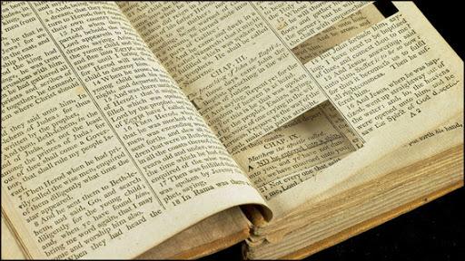 bible torn apart